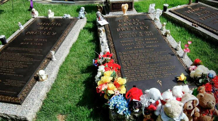 Tumba de Elvis Presley, Graceland, Memphis, Tennessee.